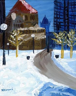 Hancock Building Painting - Copley Square Boston by Natallia Maseyeva