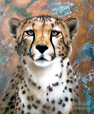 Cheetah Painting - Copper Flash - Cheetah by Sandi Baker