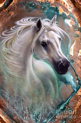 Patina Painting - Copper Grace - Horse by Sandi Baker