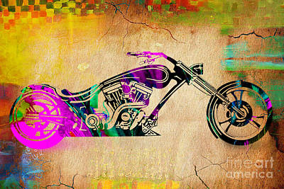 Motorcycle Mixed Media - Copper by Marvin Blaine