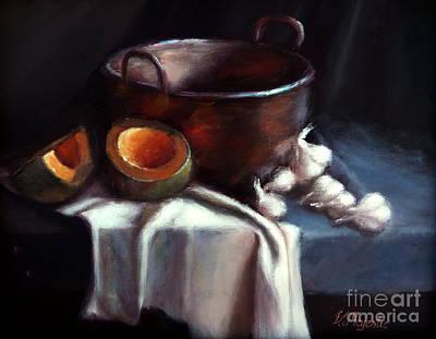 Copper Pot And Cantalpes Print by Viktoria K Majestic