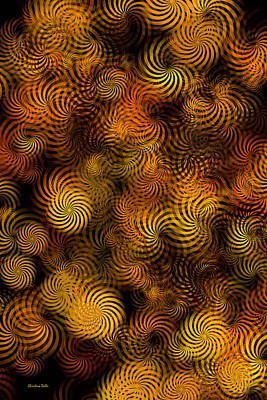 Mixed Media - Copper Spirals Abstract by Christina Rollo