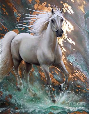 Patina Painting - Copper Sundancer - Horse by Sandi Baker