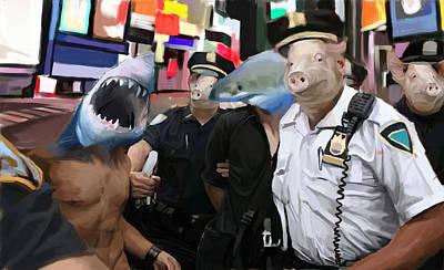 Cops And Robbers  Original by Scott Benites