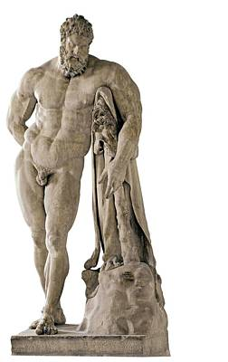 Copy From Lisippo, The Farnese Hercules Print by Everett