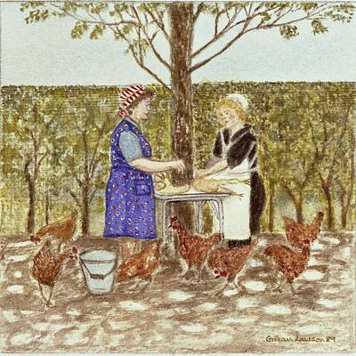 Coq Au Vin, 1989 Watercolour On Paper Print by Gillian Lawson