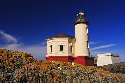 Coquille River Lighthouse Print by Mark Kiver