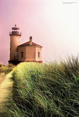 Coquille River Lighthouse Oregon Print by Rafael Escalios