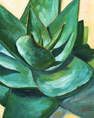 Aloe Painting - Coral Aloe 1 by Athena Mantle