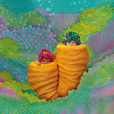 Coral Photograph - Coral Babies by Anne Geddes