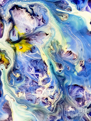 Watercolor Painting - Coral Reef Abstract Watercolor Painting by Justyna JBJart