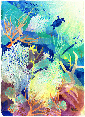 Scuba Painting - Coral Reef Dreams 2 by Pauline Jacobson