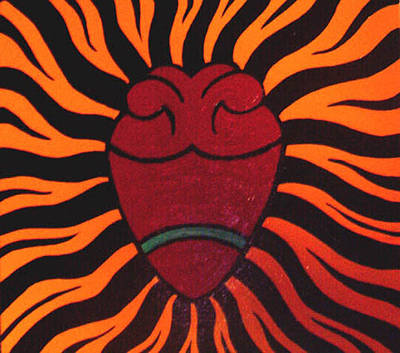 Heart Images Painting - Corazon by Jane Madrigal