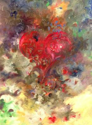Nature Center Painting - Corazon by Julio Lopez