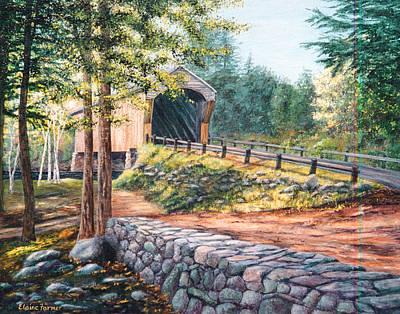 Corbin Covered Bridge Print by Elaine Farmer