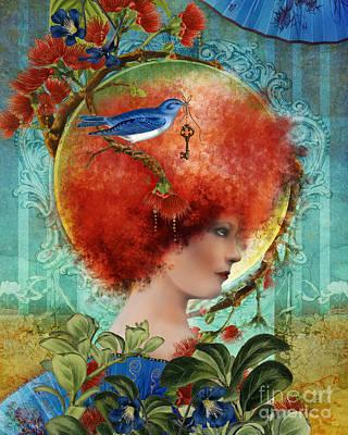 Blue Digital Art Digital Art - Cordelia by Aimee Stewart