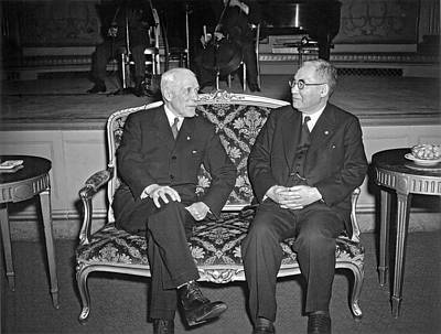Cordell Hull With Adm. Nomura Print by Underwood Archives