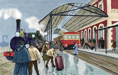 Cordoba Station Arrival Of A Passenger Print by Prisma Archivo