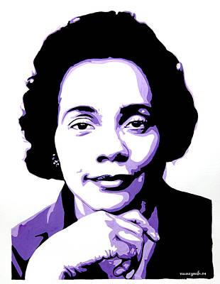 Civil Liberties Mixed Media - Coretta Scott King by Nancy Mergybrower