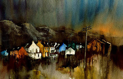 Tour Ireland Painting - Cork 2 Allihies Village Beara Cork by Val Byrne