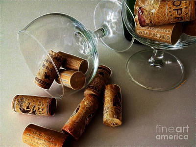 Wine Cellar Photograph - Corks 2 by Cheryl Young