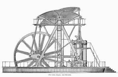 Corliss Steam Engine, 1876 Print by Granger