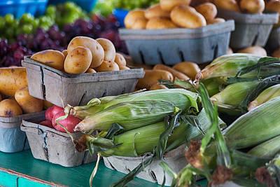 Farm Stand Photograph - Corn And Potatoes by Lauri Novak