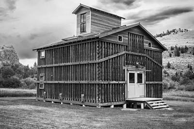 Corn Crib Revisited Montana Bw Print by Rich Franco