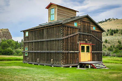Corn Crib Revisited Montana Painted Print by Rich Franco