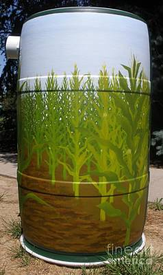 Rain Barrel Painting - Corn Field by Katherine Tesch