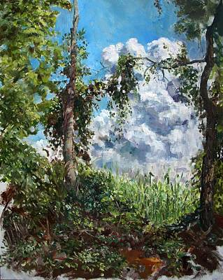 Corn Through Trees Original by John Sumereau