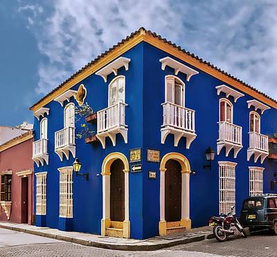 Caribbean Corner Photograph - Corner House by Maria Coulson
