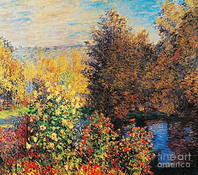 Lively Painting - Corner Of Garden In Montgeron by Claude Monet
