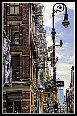 Corner Of Spring And Greene - Soho - Nyc Print by Madeline Ellis