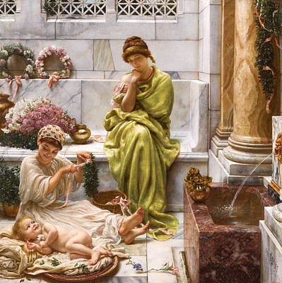 Corner Of The Marketplace Print by Edward John Poynter