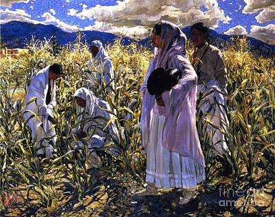 Cornfield In Taos Print by Pg Reproductions