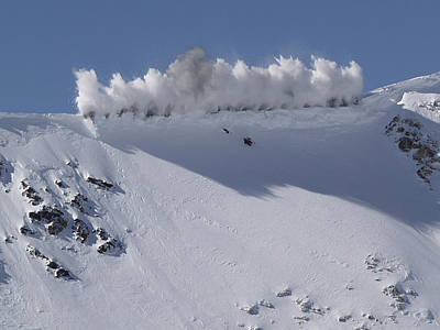 Photograph - Cornice Blast by Bill Gallagher