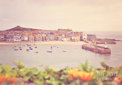 Cornish Harbour Print by Lyn Randle
