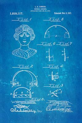 Odd Portrait Photograph - Cornish Wrinkle Remover Patent Art 1917 Blueprint by Ian Monk
