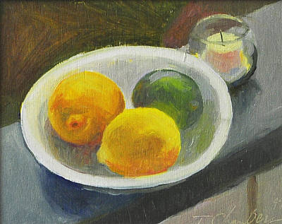 Corolla Green And Yellow Print by Timothy Chambers