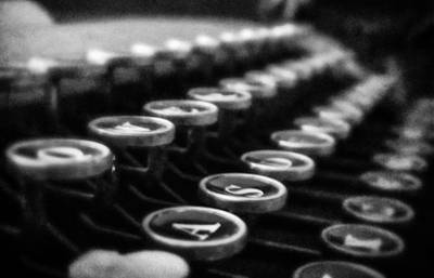 Typewriter Keys Photograph - Corona Zephyr Keyboard by Jon Woodhams