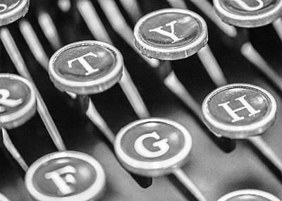 Typewriter Photograph - Corona Zephyr Typewriter Keys by Jon Woodhams
