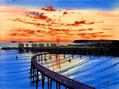 Hotel Del Coronado Painting - Coronado Panorama by John YATO