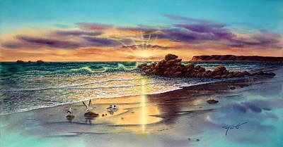 Hotel Del Coronado Painting - Coronado Sunset by John YATO