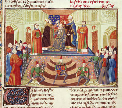 Coronation Of Henry Iv Print by British Library