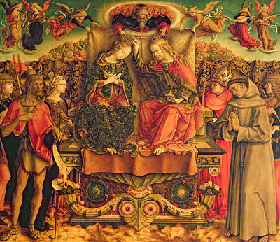 Coronation Of The Virgin Print by Carlo Crivelli