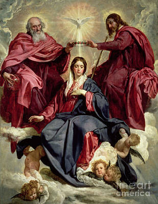 Coronation Of The Virgin Print by Diego Velazquez