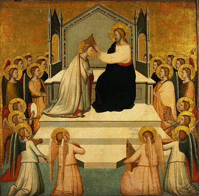 Maso Di Banco Painting - Coronation Of The Virgin by Maso di Banco