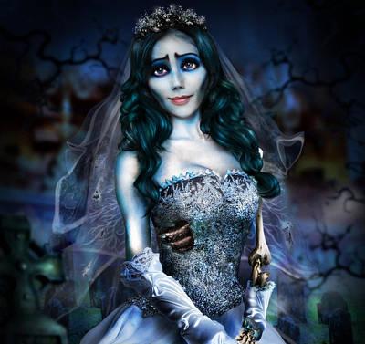 Johnny Depp Digital Art - Corpse Bride by Alessandro Della Pietra