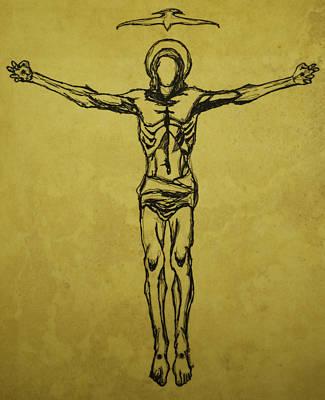 Corpus Christi And Dove Print by Daniel P Cronin